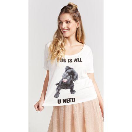 T-SHIRT PUG IS ALL U NEED