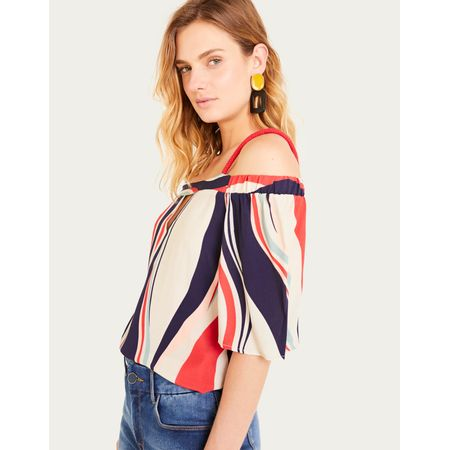 BLUSA OFF SHOULDER CORDA