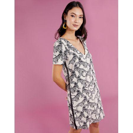T-SHIRT DRESS FAIXA COURO