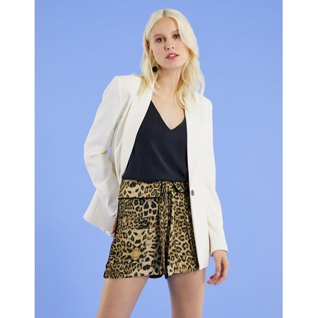 SHORTS VISCOSE ANIMAL PRINT