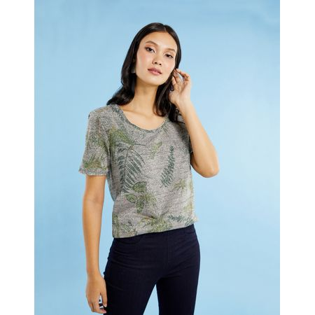 T-SHIRT ESTAMPADA LUREX