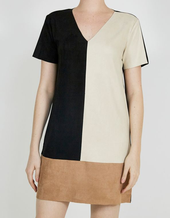 201104100_0074_010-T-SHIRT-DRESS-SUEDE-COLOR-BLOCK