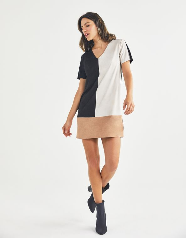 201104100_0074_010-T-SHIRT-DRESS-SUEDE-COLOR-BLOCK