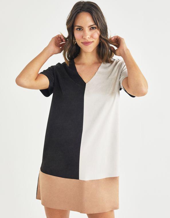 201104100_0074_040-T-SHIRT-DRESS-SUEDE-COLOR-BLOCK